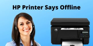 HP Printer Says Offline