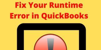 Fix Your Runtime Error in QuickBooks